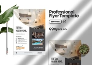 Modern Real Estate Flyer Free PSD Template