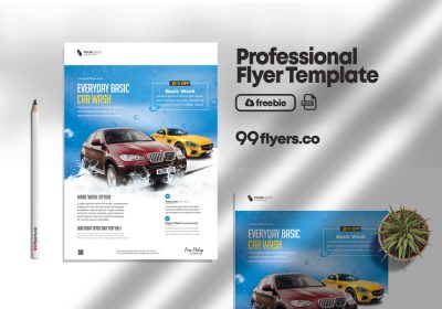 Car Wash Flyer Free PSD Template