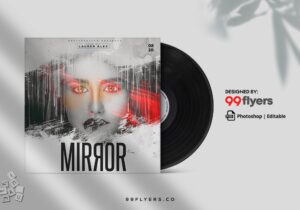 DJ House Music Free CD Cover Template