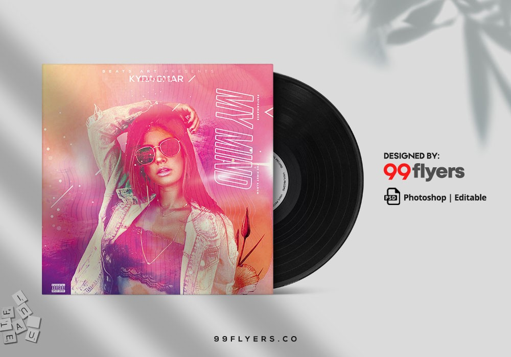 DJ Mixtape Vol2 Free CD Cover PSD Template