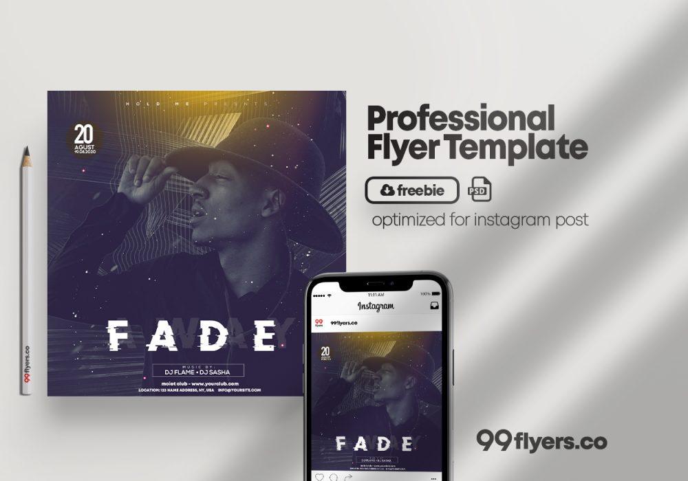 Fade Away Event Flyer Free PSD Template
