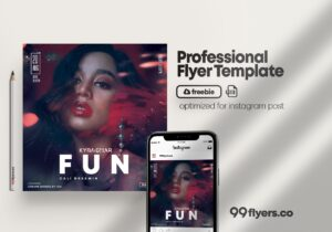 Fun Party Free Event PSD Flyer Template