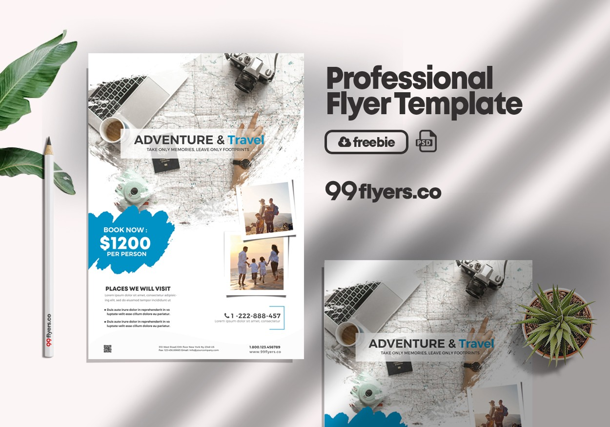 Holiday Travel Flyer Free PSD Template