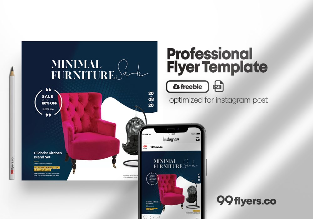 New Arrival! Free Furniture Flyer Template (PSD)