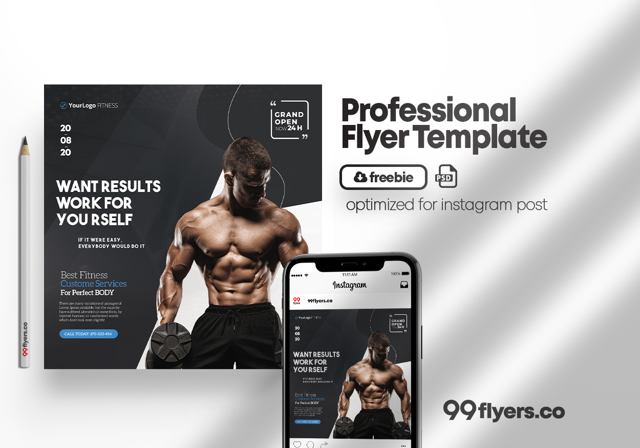 Personal Fitness Training Flyer Free PSD Template