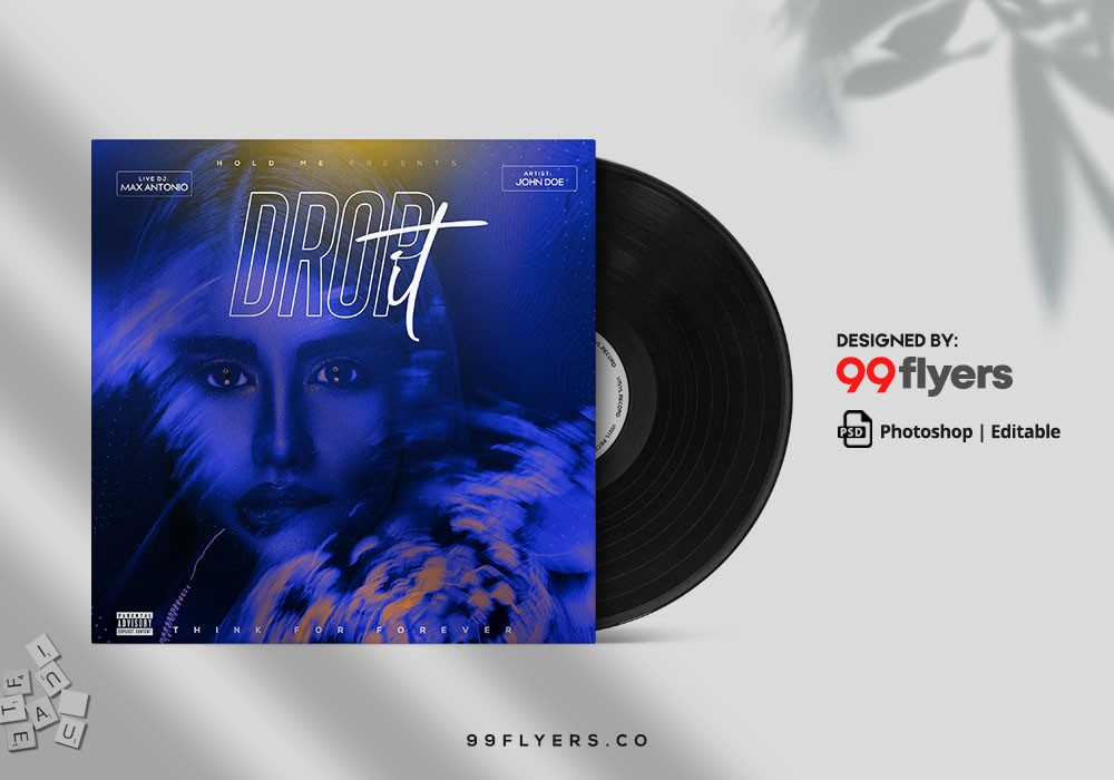Remix Party CD Cover Free PSD Template