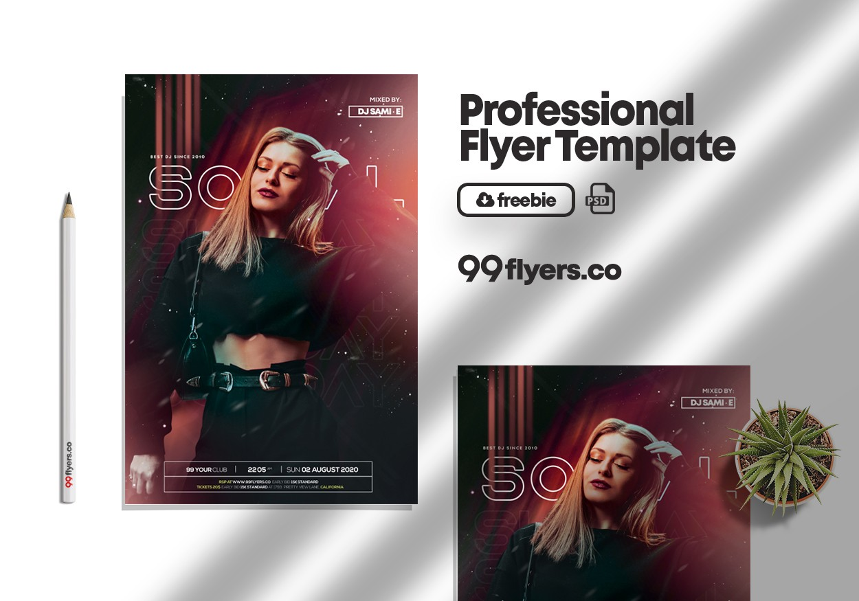 Social Sunday Event Flyer Free PSD Template