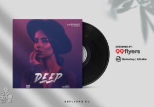 Song CD Cover Art Free PSD Template