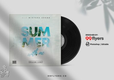 Summer With Me CD Cover Free PSD Template