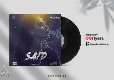 Trance Music CD Cover Free PSD Template
