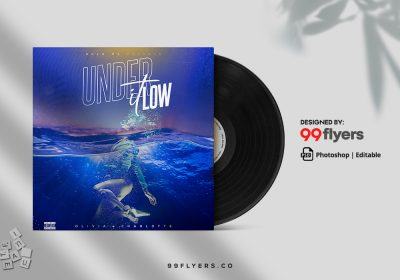 Underwater Music CD Cover Free PSD Template
