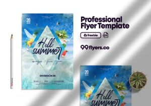 Beyond The Sea Summer Flyer Free PSD Template