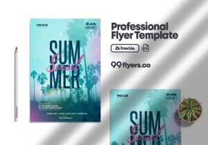 Days Of Summer Flyer Free PSD Template