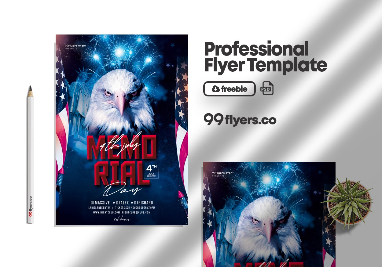 Memorial Day Weekend Free PSD Flyer Template