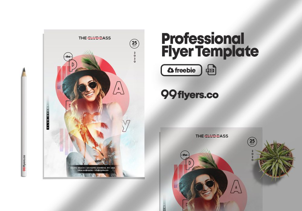 Party in Summer Free PSD Flyer Template