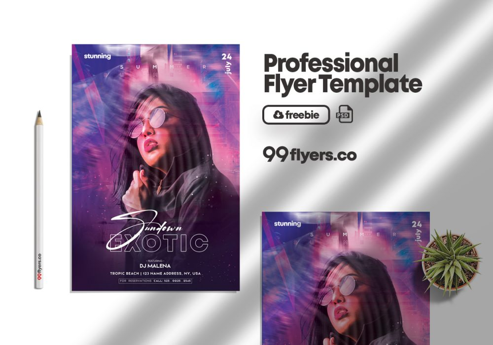 City Nights Club Free PSD Flyer Template