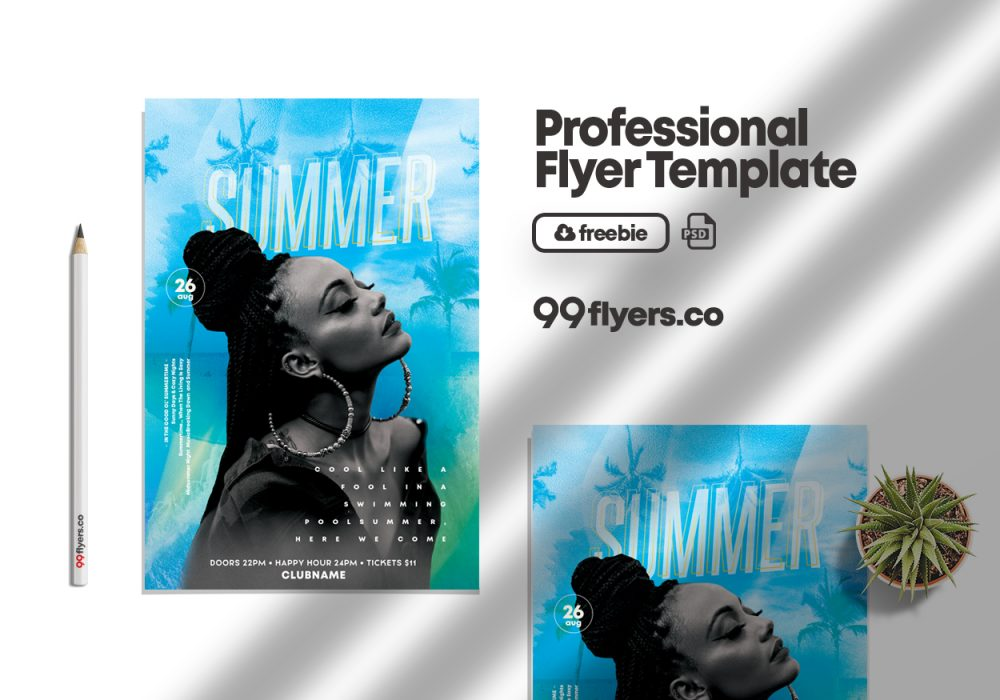 Summer Fun Event Free PSD Flyer Template