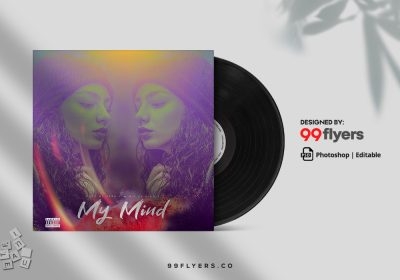 My Mind Free CD Cover Art Mixtape Template (PSD)