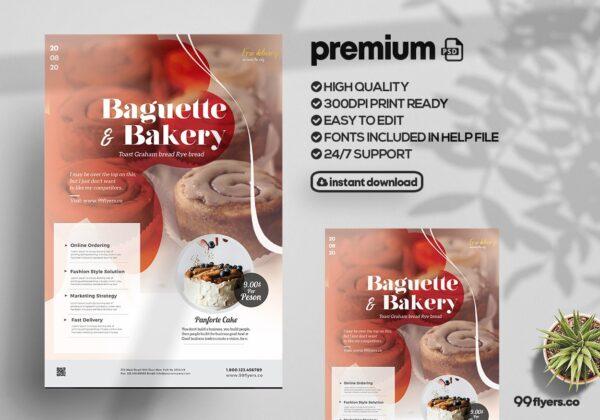 Bakery & Cupcake Shop - PSD Flyer Template