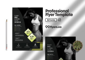 Fat Burns Fitness Flyer Free PSD Template
