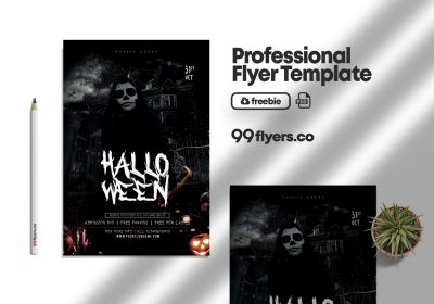 The Witching Hour Halloween Flyer Free PSD Template
