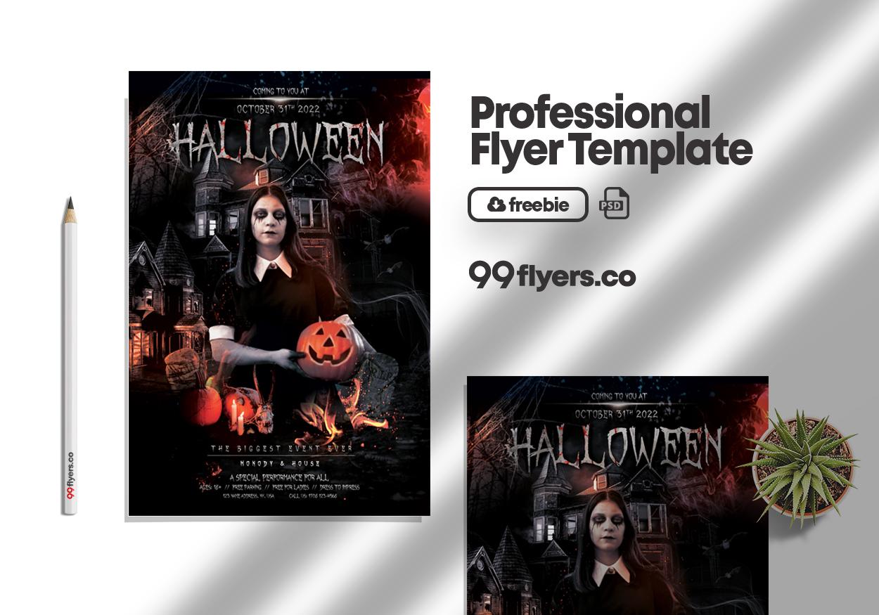 Vampire Weekend Halloween Party Free PSD Flyer Template
