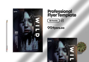 Wild Dreams Event Flyer – Free PSD Template