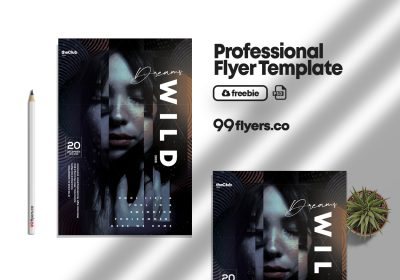 Wild Dreams Event Flyer - Free PSD Template