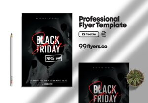 Black Friday Sale Discount Flyer Free PSD Template