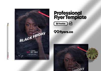 Black Friday Sale Promotion Flyer Free PSD Template