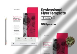 Digital Agency Free PSD Flyer Template