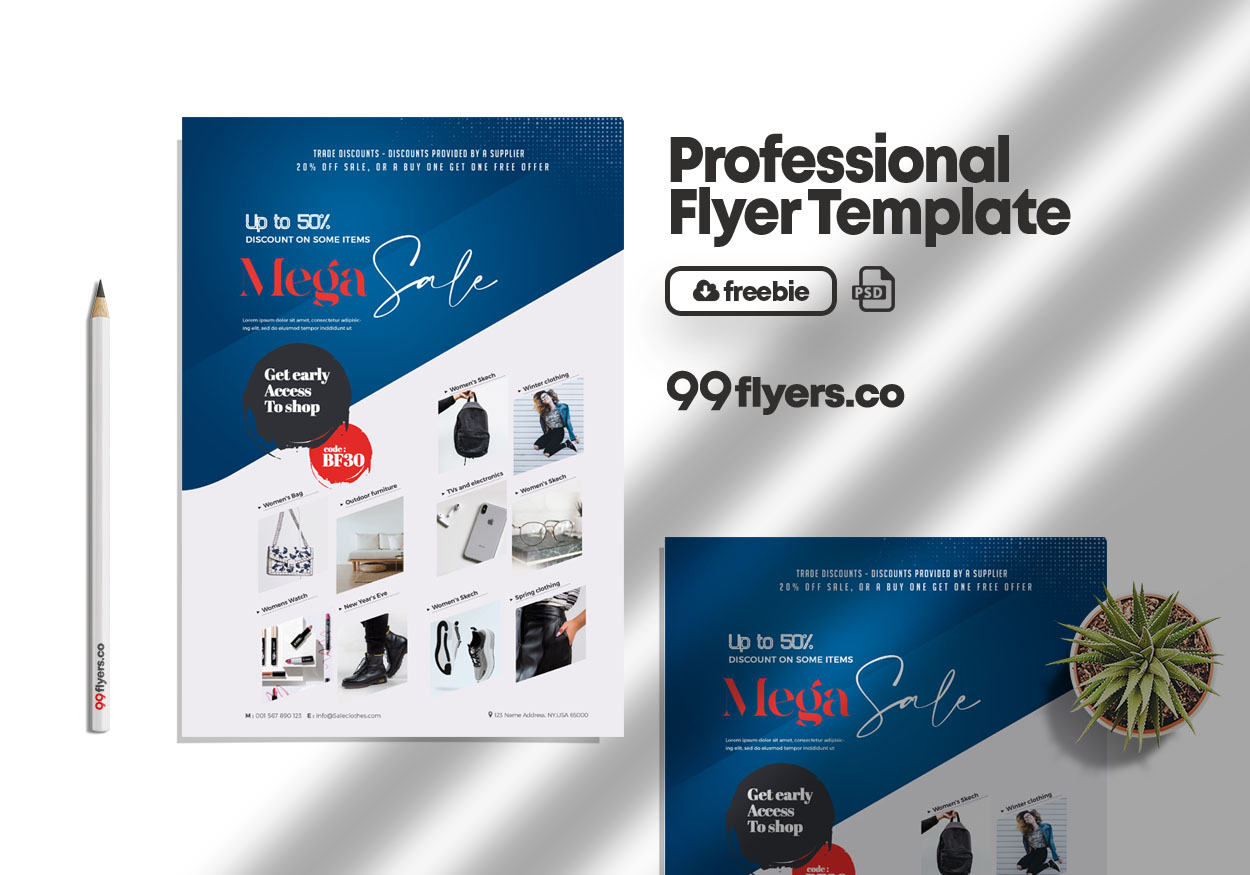 Products Market Sale Free Psd Flyer Template
