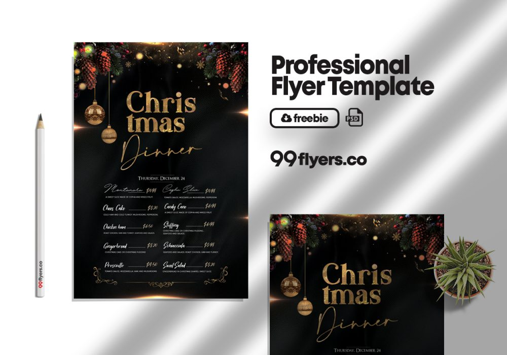 Christmas Special Menu Free PSD Flyer Template