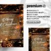 Elegant X-Mas Party PSD Flyer Template