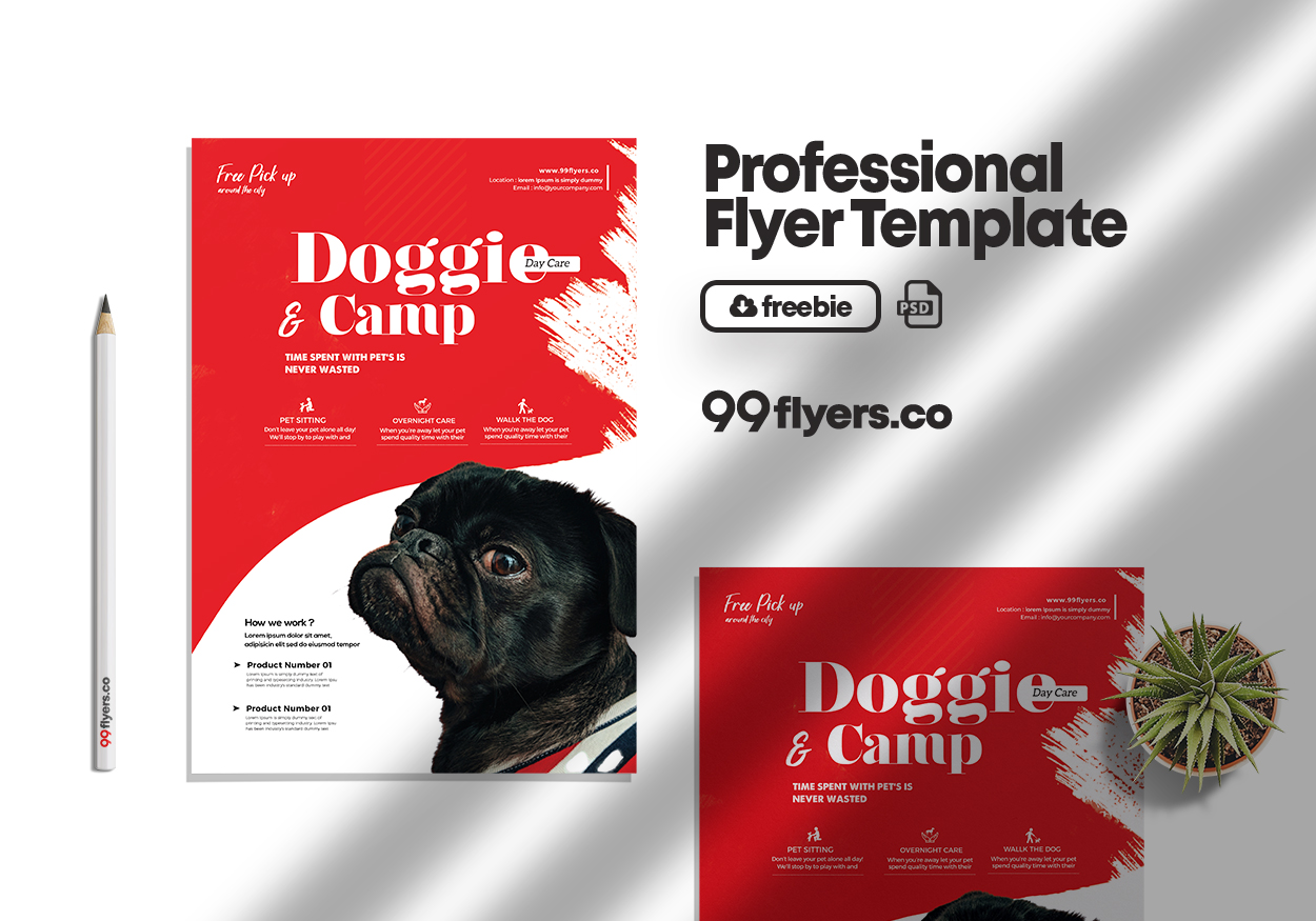 Pet Daycare Flyer Free PSD Template