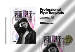 Affinity Nightlife Club Free PSD Flyer Template