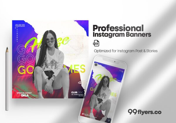 Vibe Special Party & Events Instagram Banners (PSD)