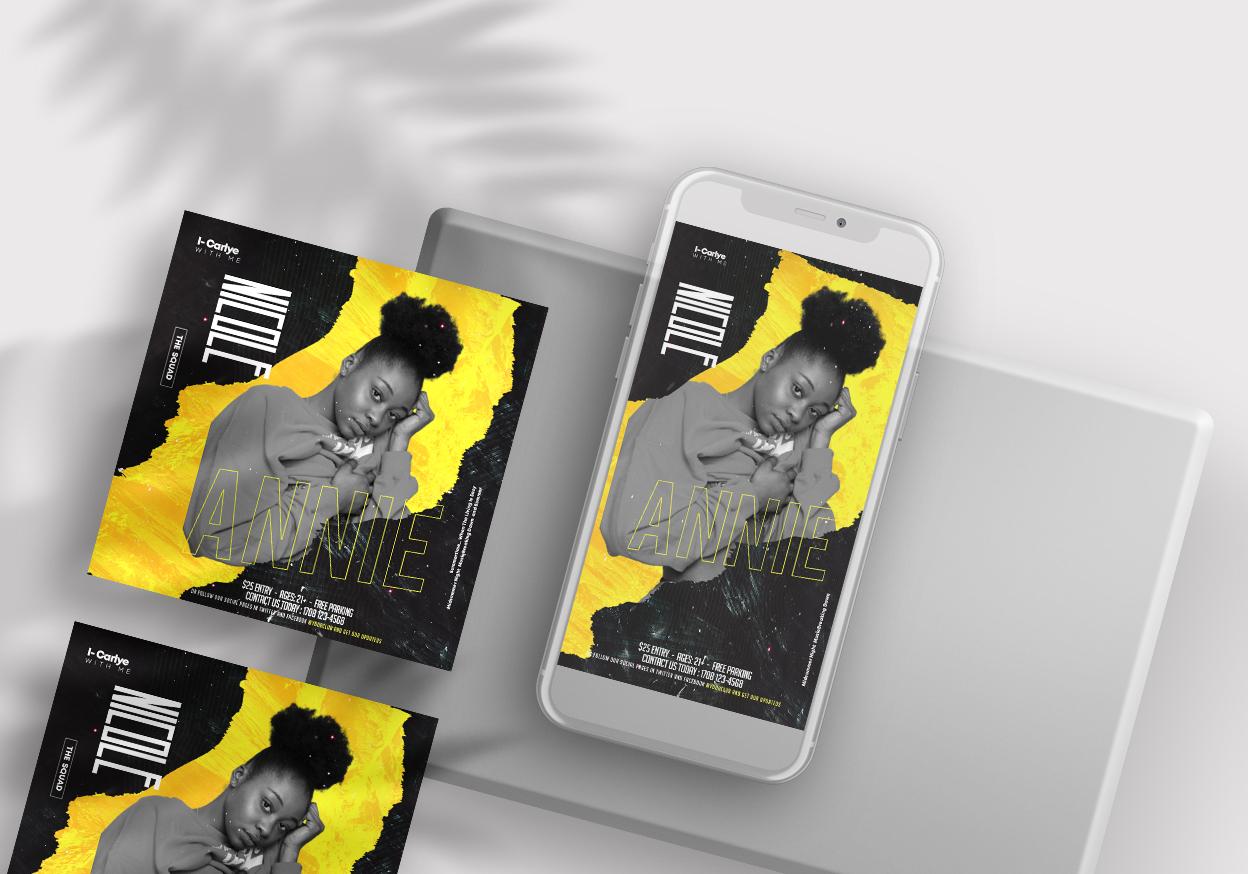 Nightclub Vibe Free Instagram Banners (PSD)