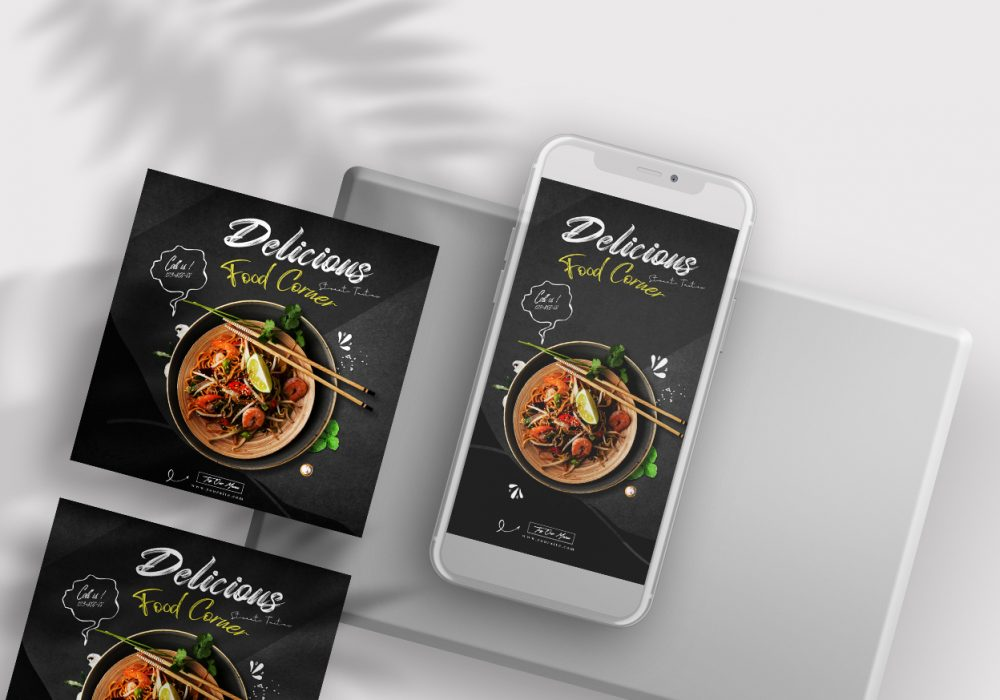 Restaurant Food Ad Free Instagram Banners Templates