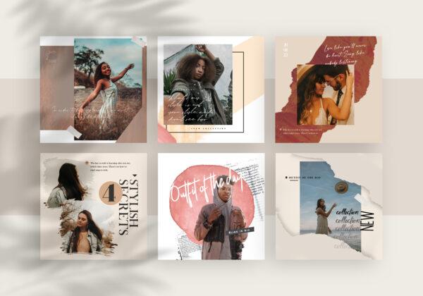 BUNDLE 20 Promotional & Bloggers Instagram Templates