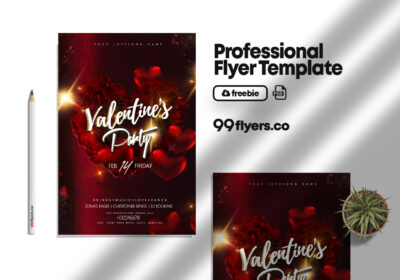 Happy Hearts Day Free PSD Flyer Template