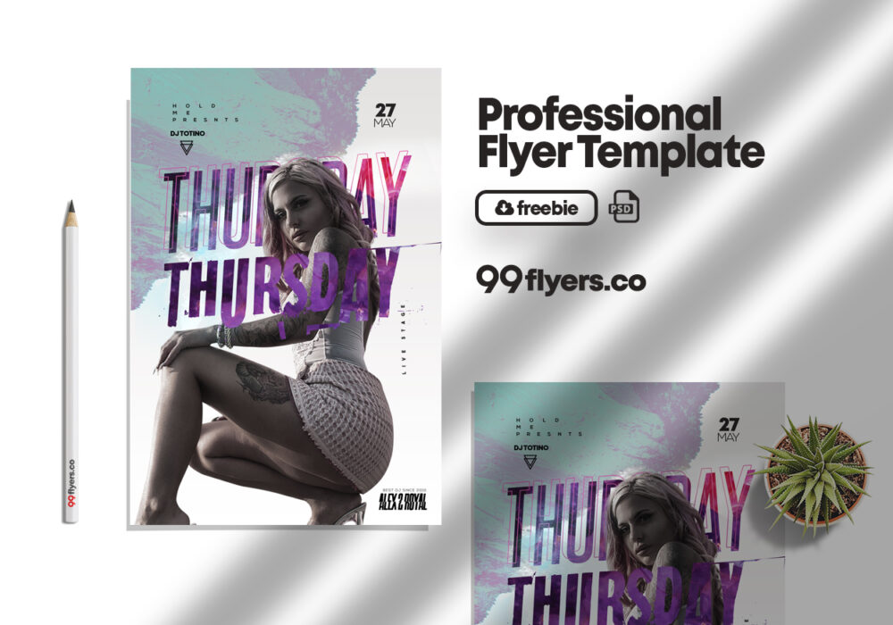 Thursday Nightclub Party Free PSD Flyer Template