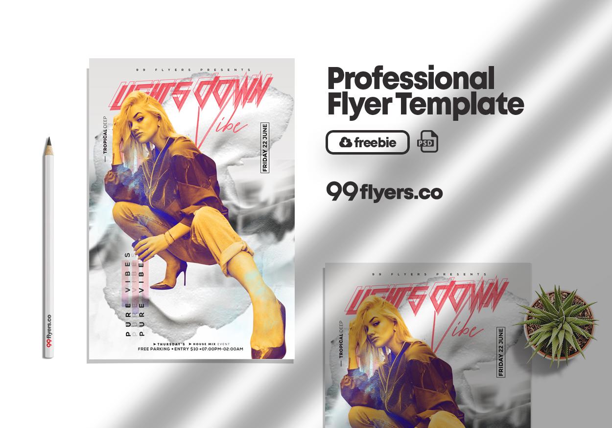 Club & Sound Vibe Free PSD Flyer Template