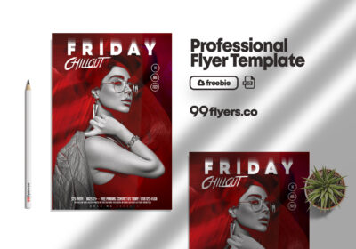 Friday Night Club Free PSD Flyer Template