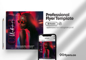 Party Nights Flyer Free PSD Templete