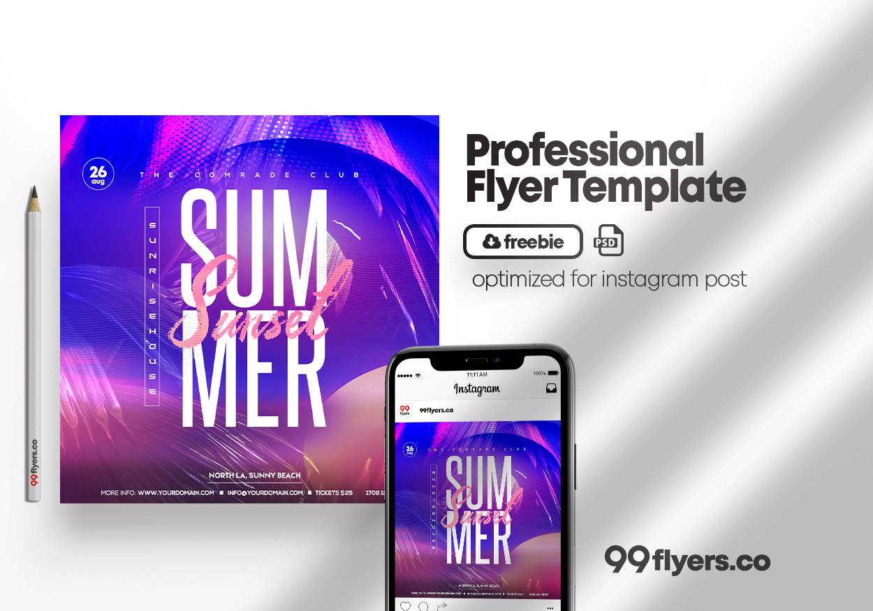 Sunny Days Event Free PSD Flyer Template