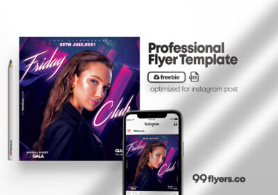 Friday Vibe Event Free PSD Flyer Template