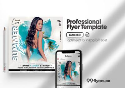 Summer Days Free PSD Flyer Template
