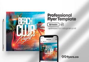 Tropic Summer Season Free PSD Flyer Template